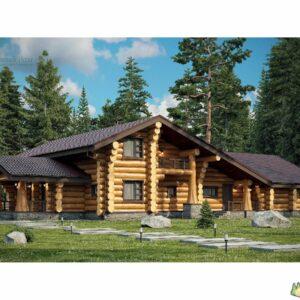 Wandbausatz Naturstammhaus Blockhaus 15