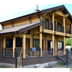 Wandbausatz Naturstammhaus Blockhaus 19