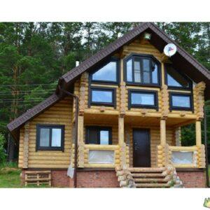 Wandbausatz Naturstammhaus Blockhaus 21