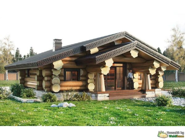 Wandbausatz Naturstammhaus Blockhaus 24