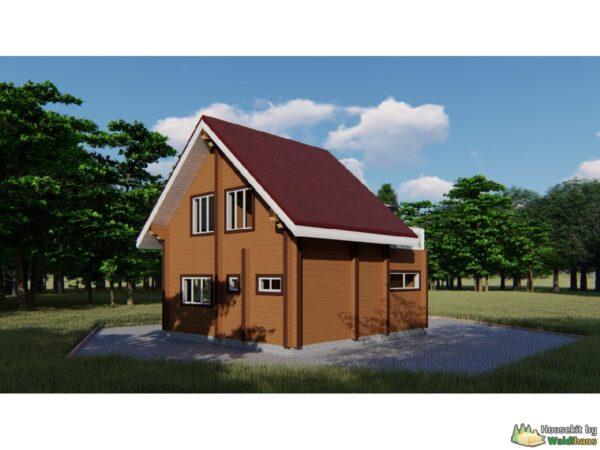 Wandbausatz Holzhaus Wyborg 110qm