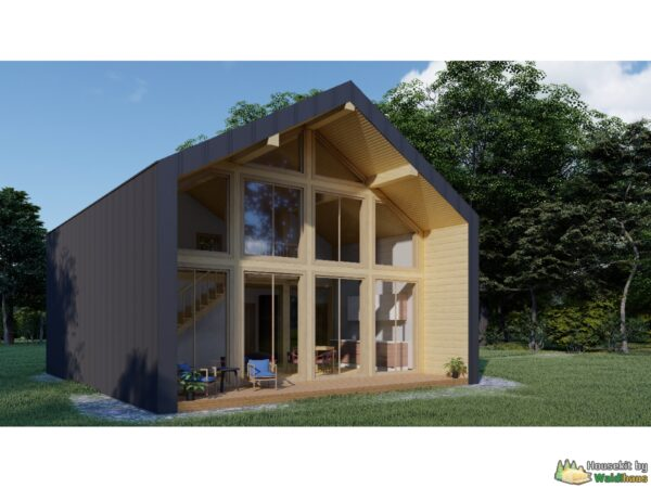 Wandbausatz Holzständerhaus Barnhouse Linden 102qm