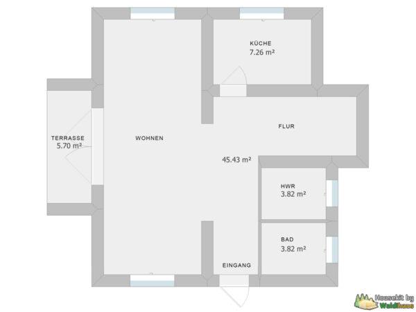 Wandbausatz Naturstammhaus Lindau 119qm
