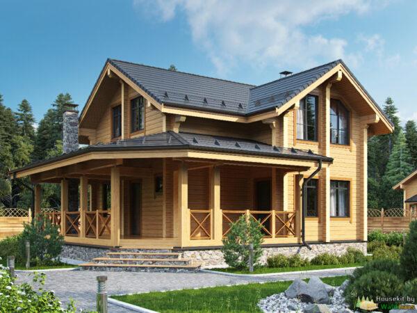 Wandbausatz Blockhaus Rosenheim 104qm