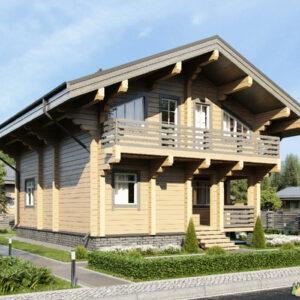 Wandbausatz Blockhaus Hannover 129qm