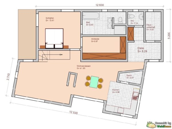 Wandbausatz Holzständerhaus Nordhausen 152qm