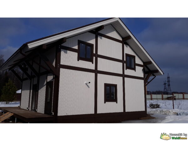 Wandbausatz Fachwerkhaus Tichwin 163qm