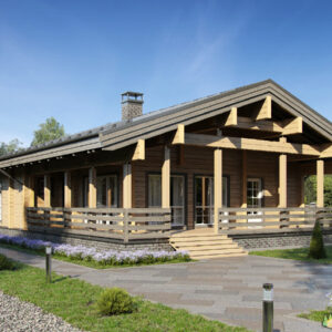Wandbausatz Blockhaus Bad Homburg 133qm