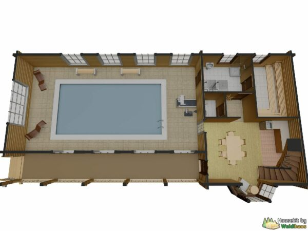 Wandbausatz Holzhaus Ruskeala 170qm