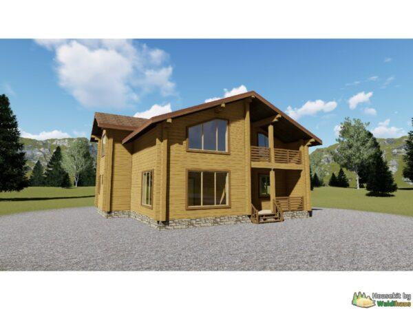 Wandbausatz Holzhaus Ikhala 178qm