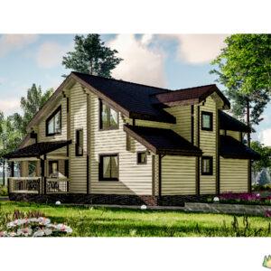Wandbausatz Holzhaus Loymola 192qm