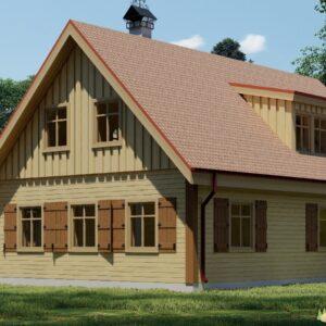 Wandbausatz Blockhaus Schwerin 192qm