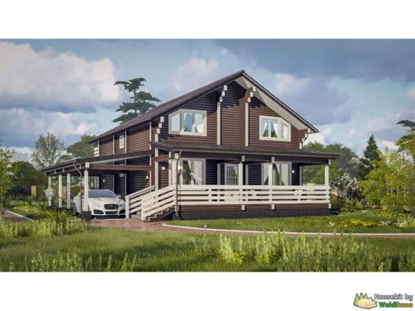 Wandbausatz Holzhaus Olonez 203qm