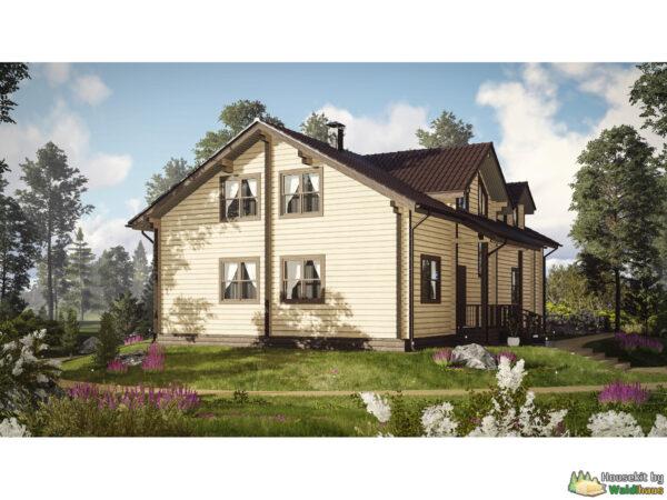 Wandbausatz Holzhaus Kharlu 216qm
