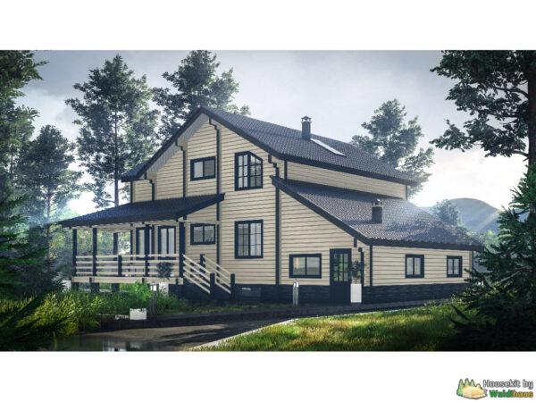 Wandbausatz Holzhaus Syandeba 225qm