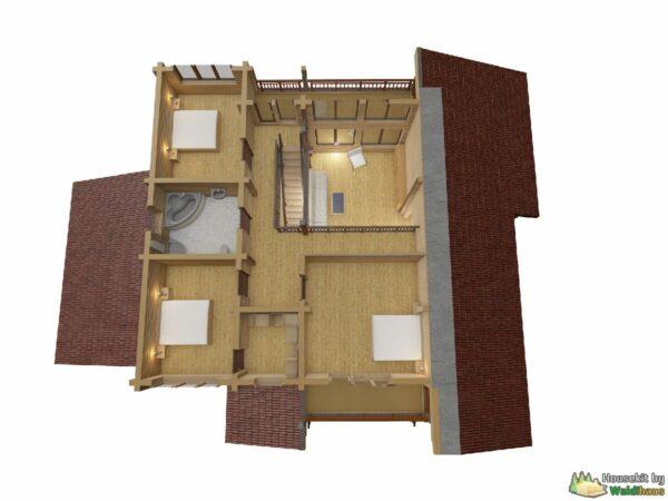 Wandbausatz Holzhaus Akimovo 276qm