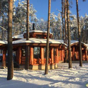 Wandbausatz Naturstammhaus Gimoly 325qm