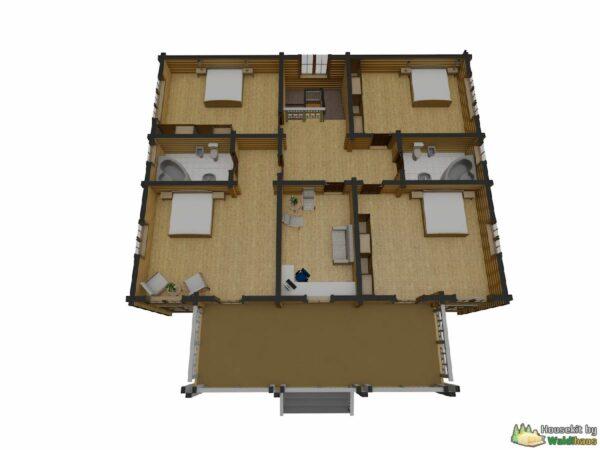 Wandbausatz Holzhaus Essoyla 361qm
