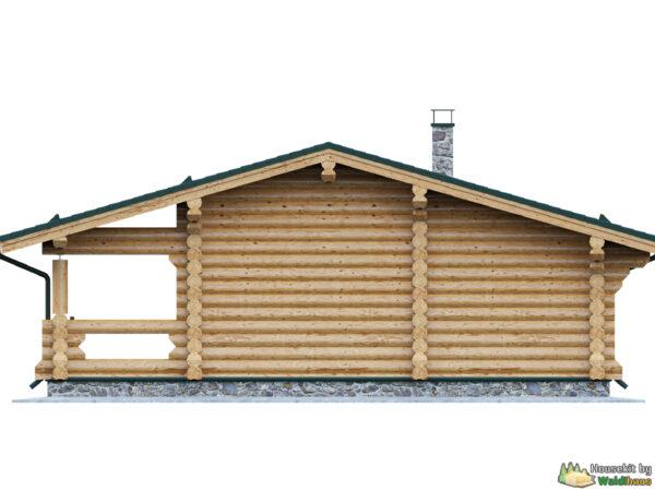 Wandbausatz Blockhaus Prien 49qm